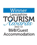 Winner – Lancashire Tourism Awards B&B Guest Accommodation